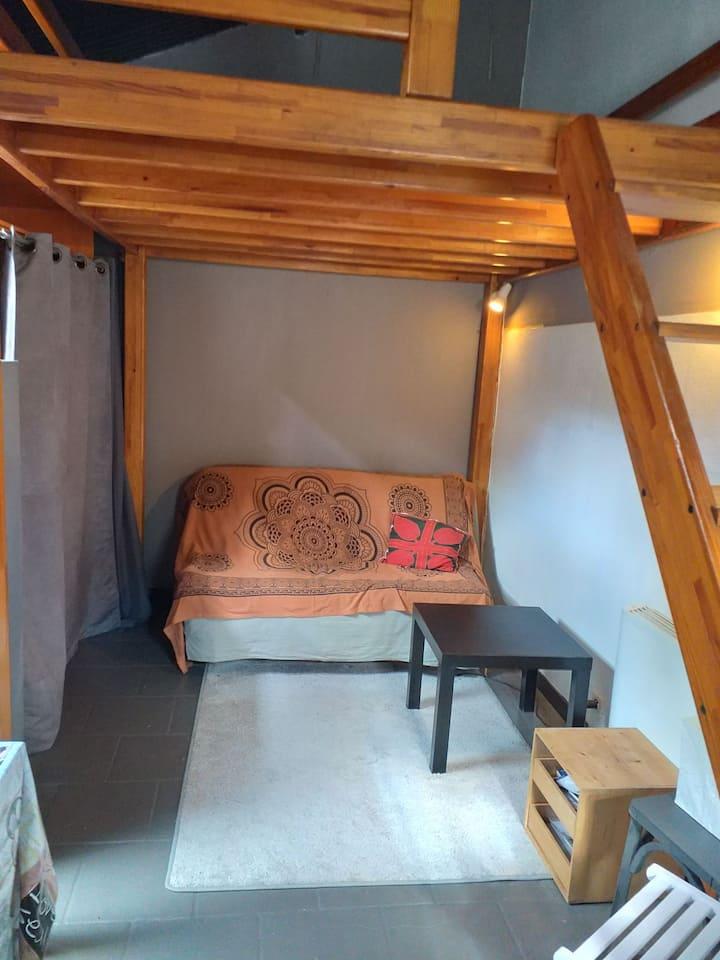 Cosy studio maisonnette et verdure porte de Paris.