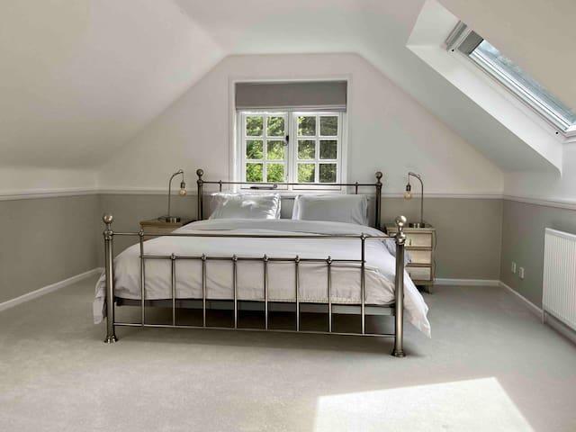 Super king bed in master bedroom