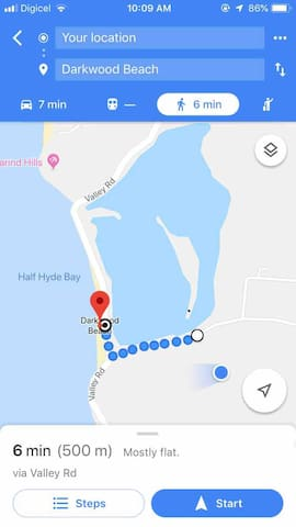 Dark wood beach voted #1 beach in Antigua 6 mins walk .