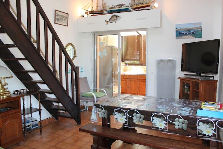Charmante Maison : jardin de 80m2 à 5min de la mer
