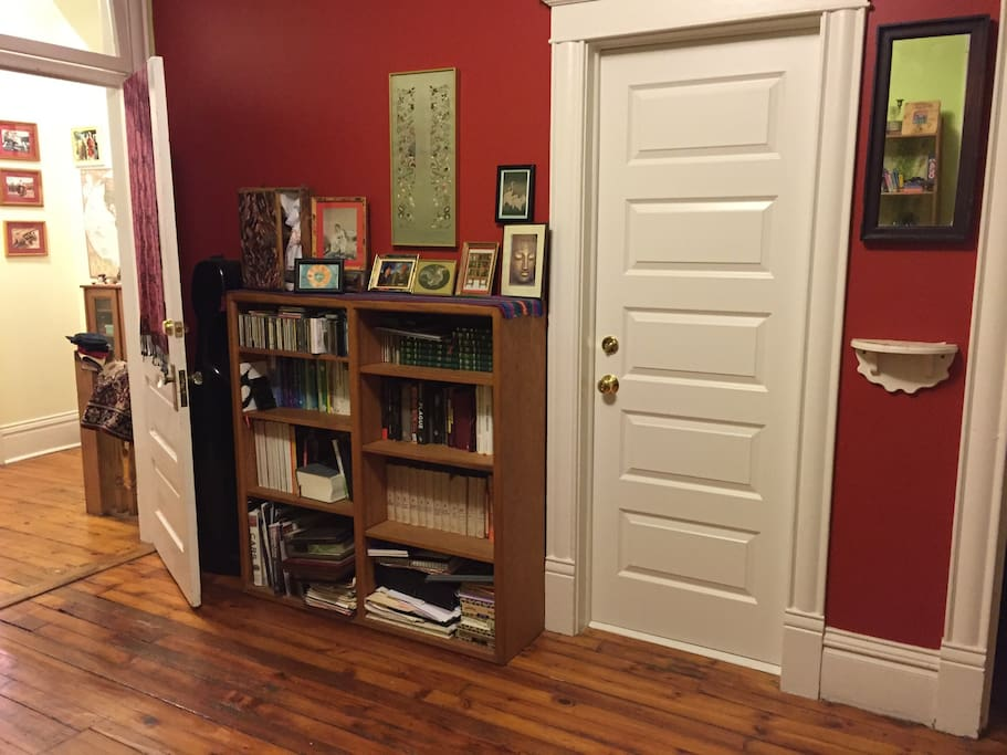 Library's room and door to temple