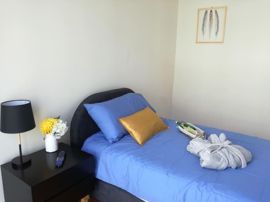 Habitación amplia con cama individual