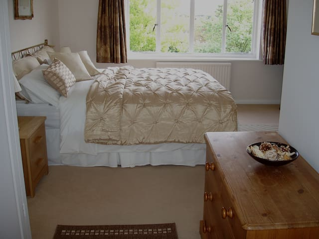 DOUBLE Bedroom in Family Home, view of South Downs