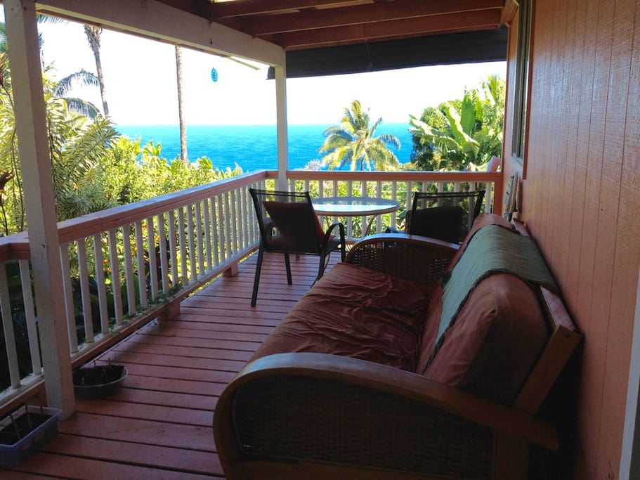The comfort of the lanai (which is shared with host).