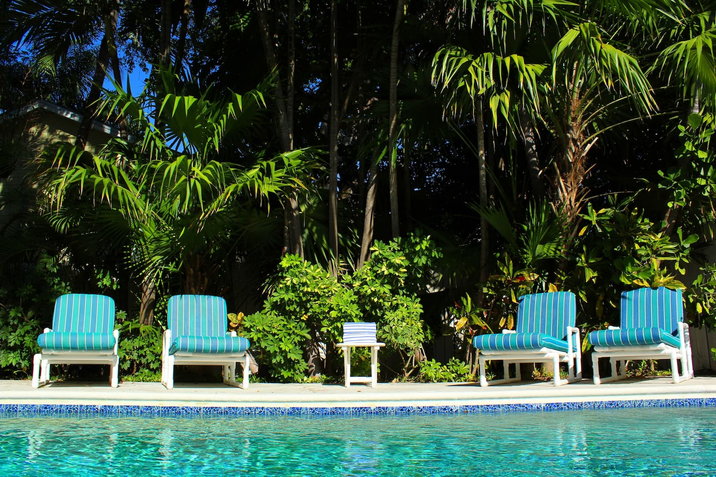 Take in the lush tropical surroundings found in this home