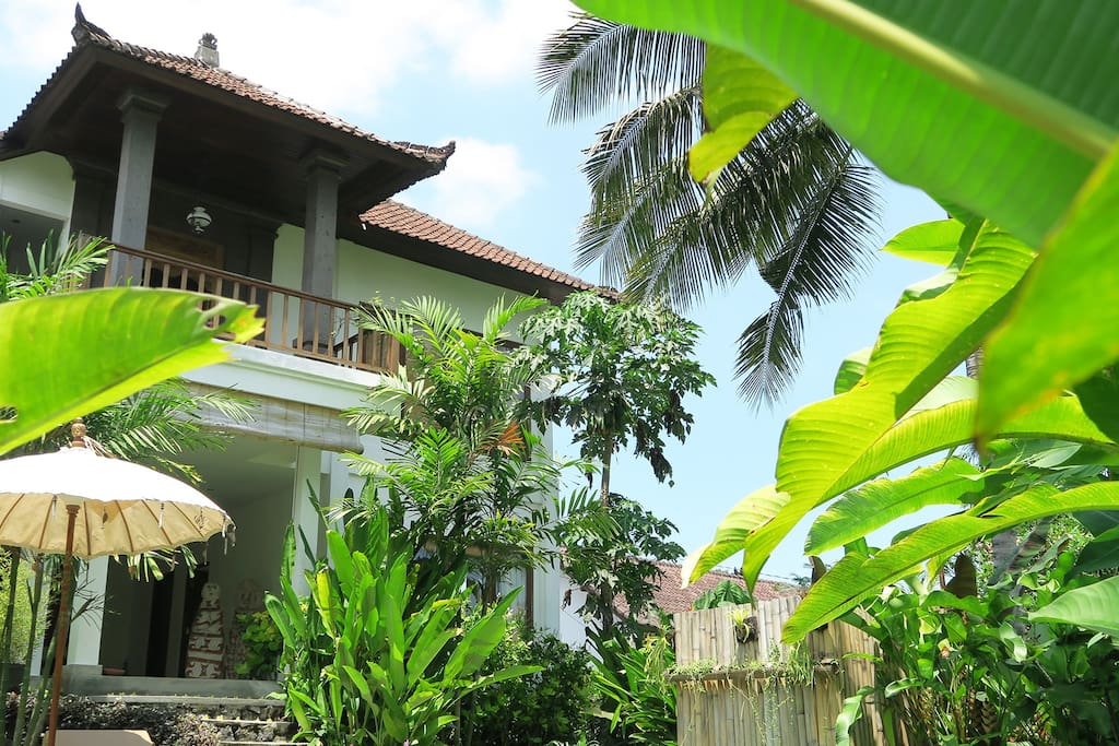A view from the garden of our large and spacious villa.