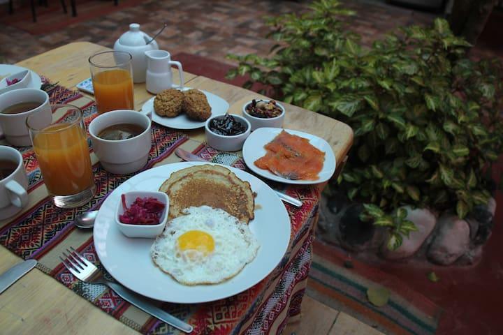 Lila Wasi Bed & Breakfast, Double Twin 1 - Urubamba - Wikt i opierunek