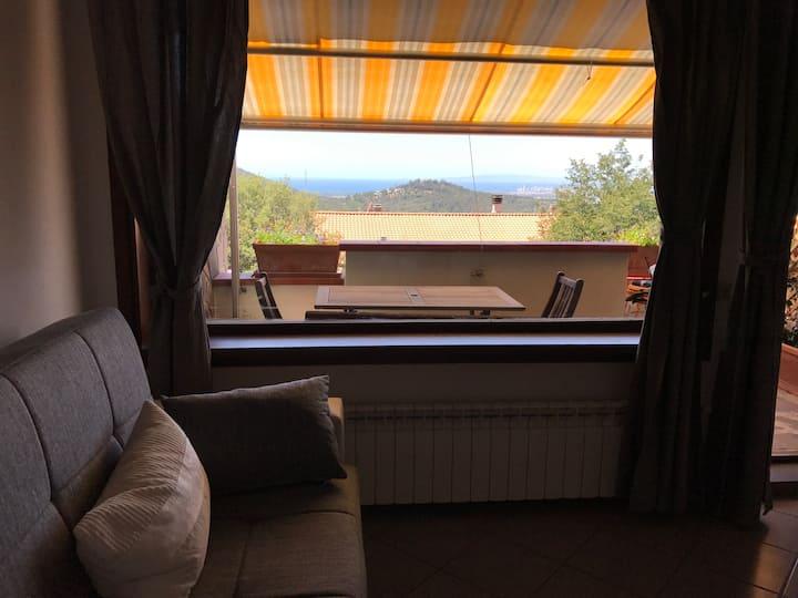 """appartamento rosa""maremma vista mare  panoramico"
