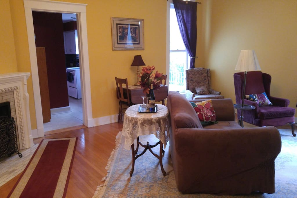 Lovely family room for relaxing and a kitchen for preparing meals.