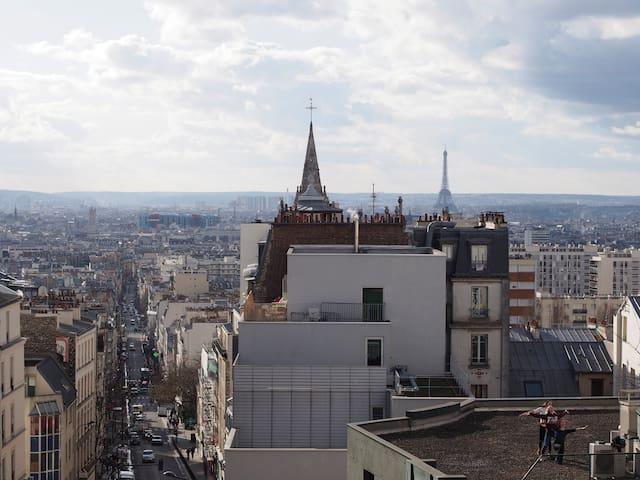 Ménilmontant, balcony and view - Pariisi - Huoneisto