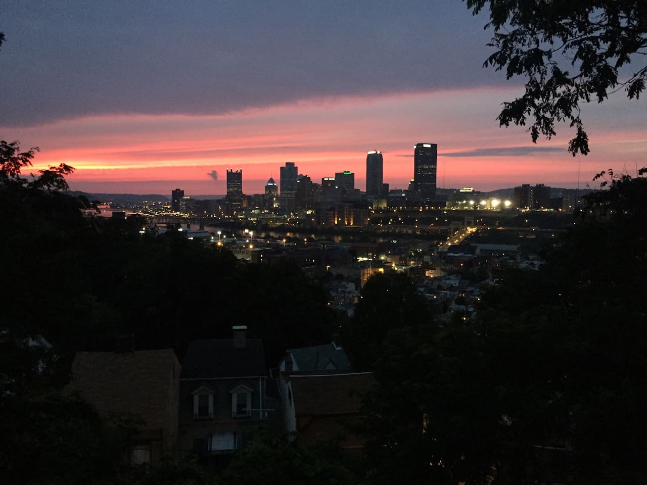 Your view. The house is located in the South Side Slopes and overlooks the downtown skyline and South Side Flats.