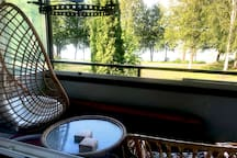 Balcony with the view to a lake