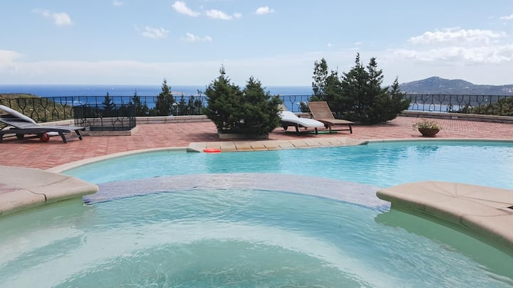 Villa Carmen1 with pool and seaview
