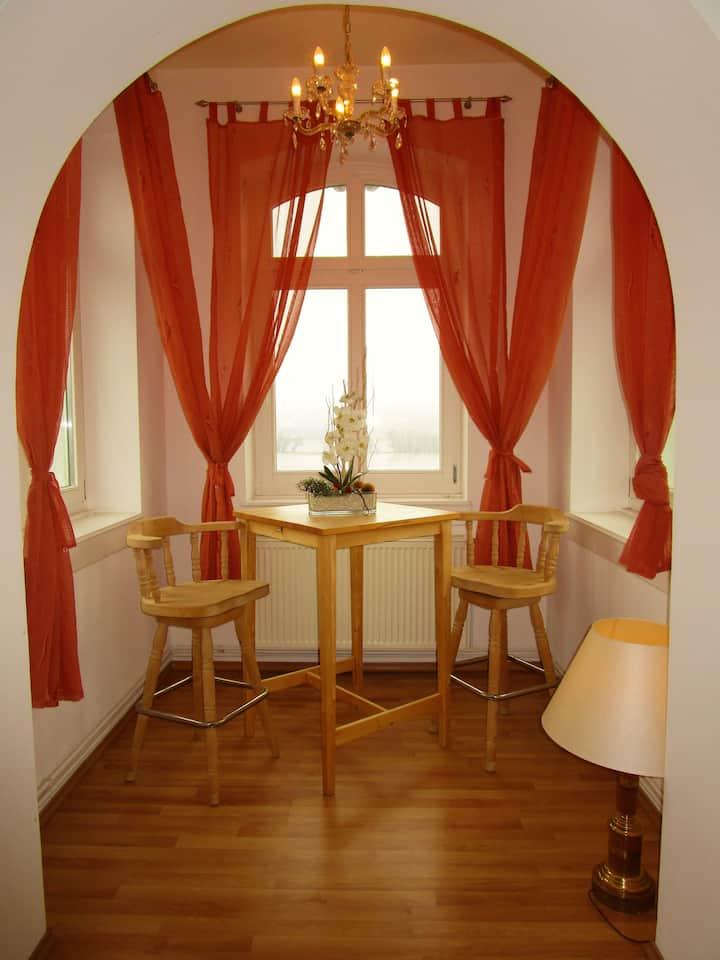 traumhafte Turmwohnung in der Villa mit Rheinblick