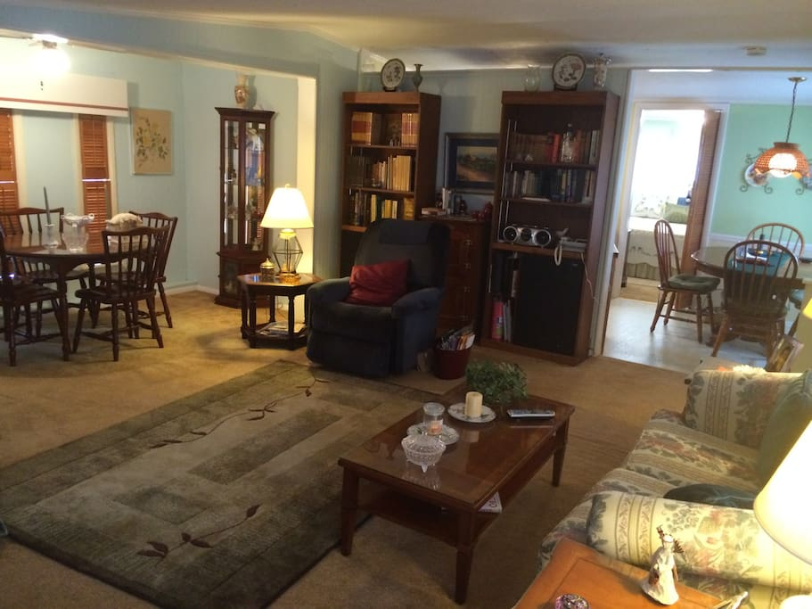 Dining (left) Living (central) Nook (right)