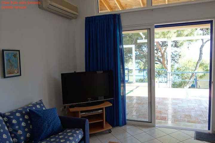 SeaFront 2,family-friendly Bungalow - Kato Sounio - (ukendt)