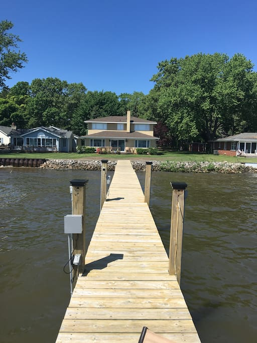 Full dock for boating and swimming