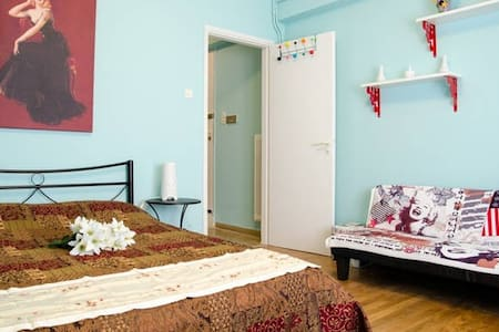 ❥ Central - Safe Metro flat #WiFi #A/C - Athina - Wohnung