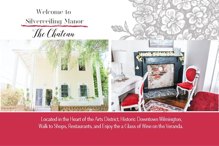 Historic Chateau Stay in Heart of Arts District
