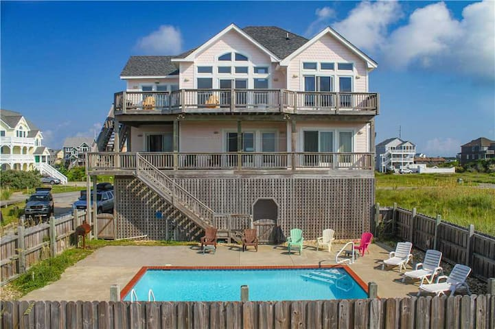 OCEANFRONT charmer in Hatteras w/Pool&HotTub