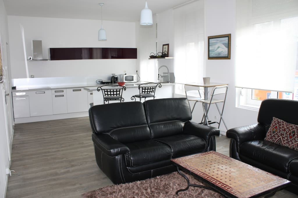 appart 2 chambres tout confort entre ville et mer appartements louer dunkerque nord pas. Black Bedroom Furniture Sets. Home Design Ideas