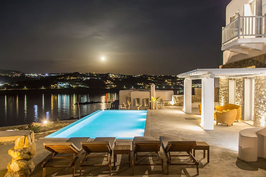 Magnificent night view from the villa