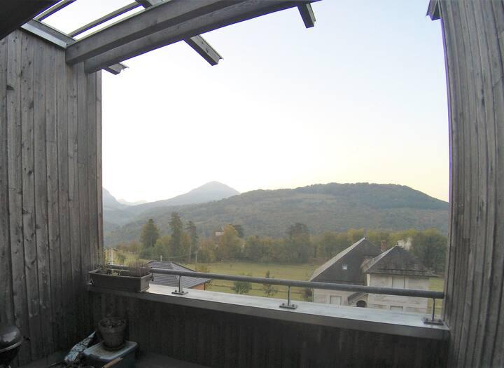 Studio moderne avec terrasse et vue imprenable