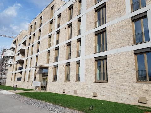 Asuu suoraan Reinillä, lähellä keskustaa ja katedraalia, 55QM