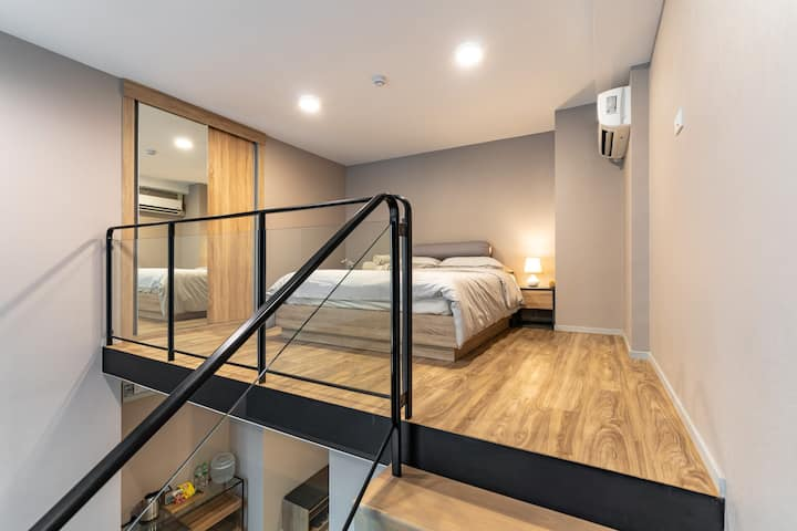 Blossom Loft 2#Close BTS S5,Free Pool/Gym/Wifi