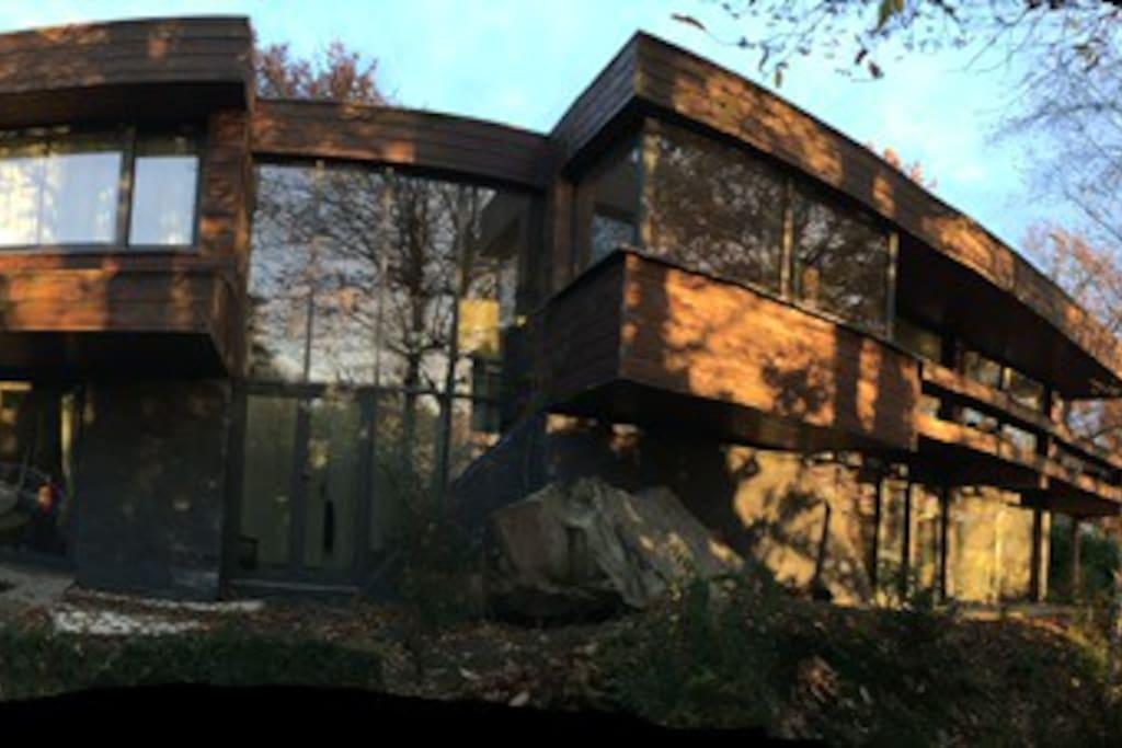 Vue extérieure maison d'architecte