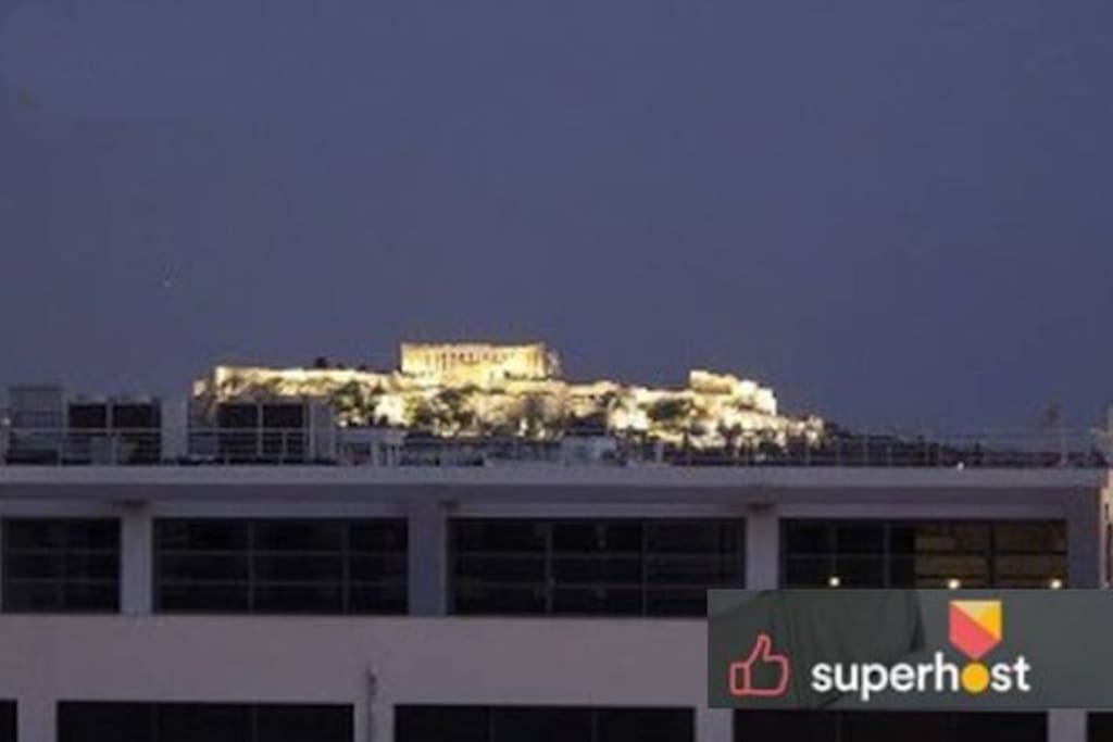 Acropolis & Parthenon view from the roof house :)