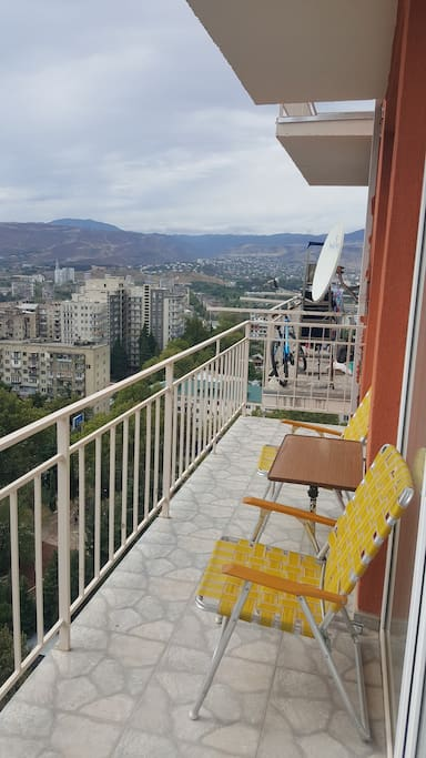 You can comfortably sit on the balcony chairs and enjoy the beautiful view.