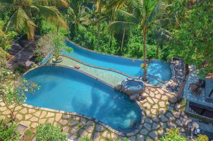RESORT BARU UBUD!Tropical Suite W/Garden View & BF