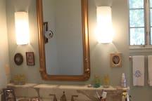 Marble vanity in master bath