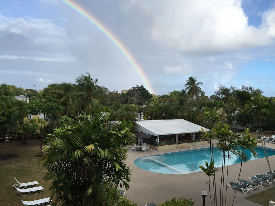 rainbow over Barbados' west coast