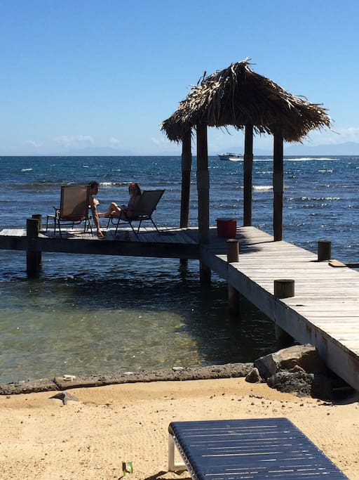 Private beach and dock