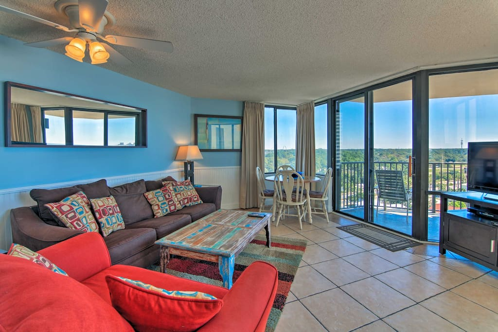 The 1-bedroom, 1-bath condo is perfect for up to 4 guests.