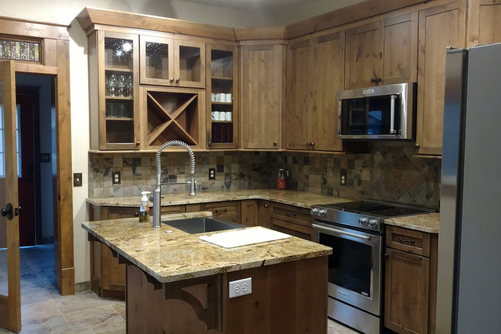 Newly remodeled kitchen with tons of cabinet spaces