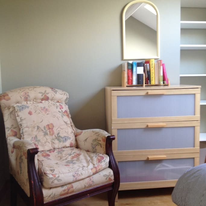 Armchair and chest of drawers