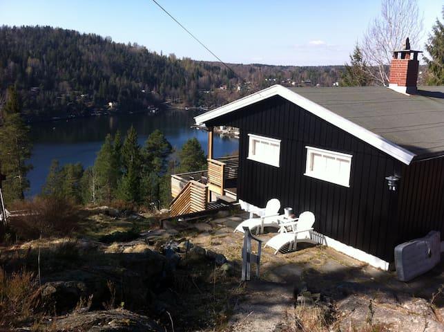 Moderne hytte med 6 sengeplasser - Drøbak - Blockhütte
