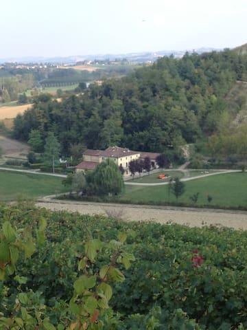 Vista della casa dall'alto