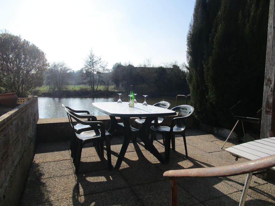 Jardin en bord de Sarthe