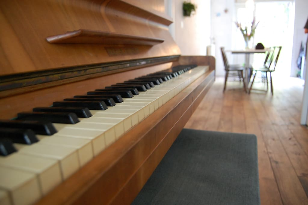 Feel free to play the piano