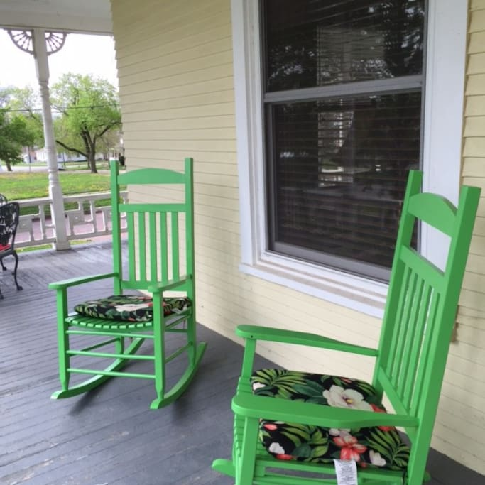 Just waiting on the porch for you!