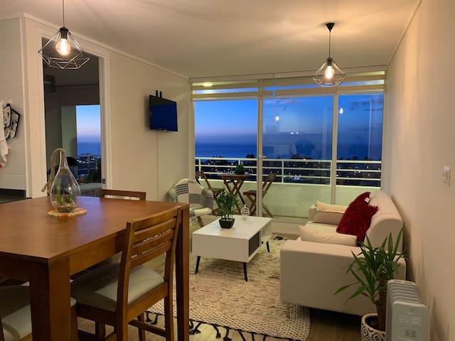 Espectacular depto con vista al mar en Concón