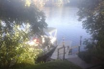 SHARED DOCK AND ONE OF SEVERAL ACCESSES TO THE RIVER.