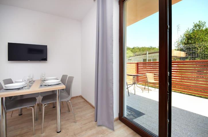 Nowoczesny apartament z balkonem, 50m od morza! 9 - Jastarnia