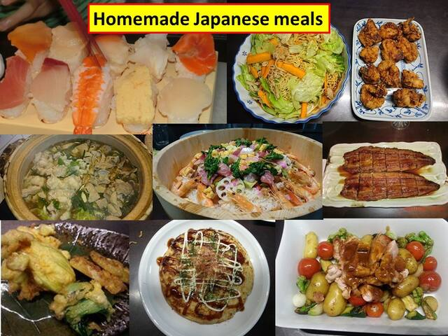 Guests can have a homemade Japanese dinner with the host's family. (Charged)