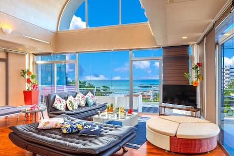 【沖縄本島の中心!】北部観光・マリンレジャーの拠点に最適!!恩納村リゾート最大10名宿泊可