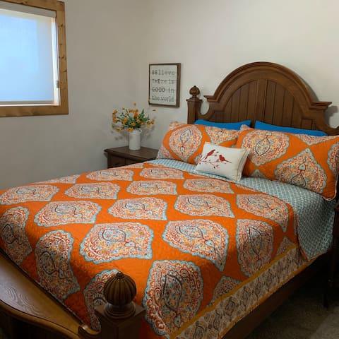 Bedroom #3 with a queen bed.